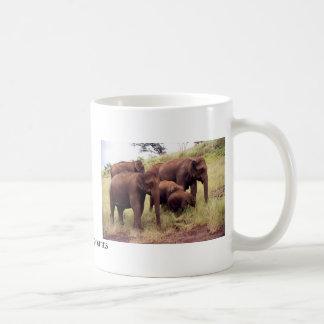 Indian wild elephants coffee mug