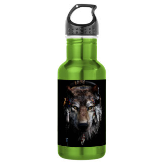 Indian wolf - gray wolf 532 ml water bottle