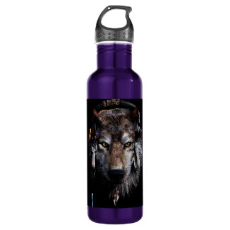 Indian wolf - gray wolf 710 ml water bottle