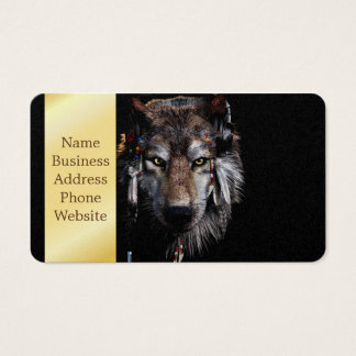 Indian wolf - gray wolf business card