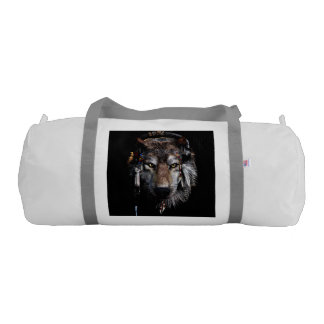 Indian wolf - gray wolf gym bag