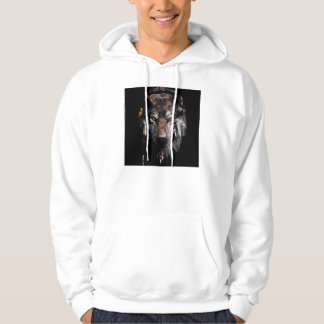 Indian wolf - gray wolf hoodie