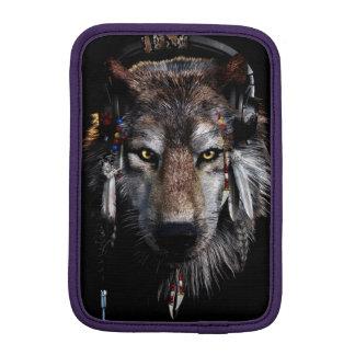 Indian wolf - gray wolf iPad mini sleeve