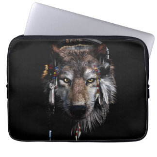 Indian wolf - gray wolf laptop sleeve