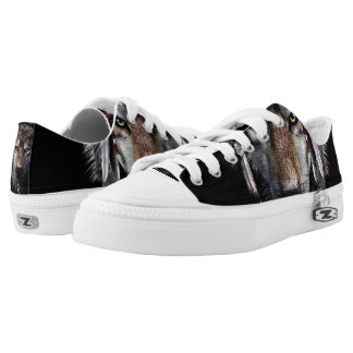 Indian wolf - gray wolf low tops