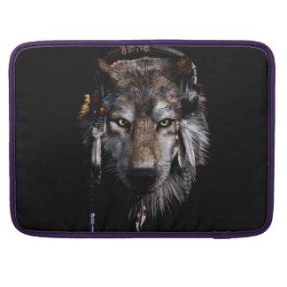Indian wolf - gray wolf MacBook pro sleeve