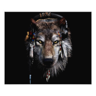 Indian wolf - gray wolf photo art