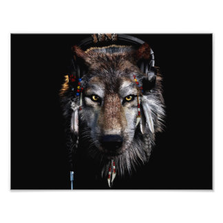 Indian wolf - gray wolf photo print