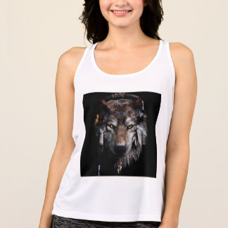 Indian wolf - gray wolf singlet