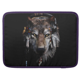 Indian wolf - gray wolf sleeve for MacBook pro