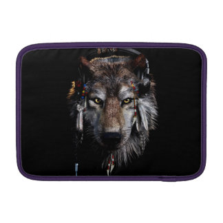 Indian wolf - gray wolf sleeves for MacBook air
