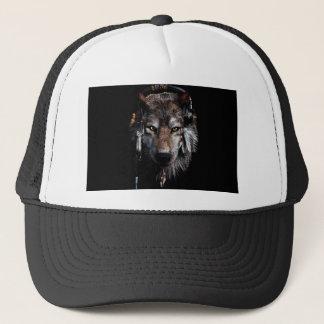 Indian wolf - gray wolf trucker hat