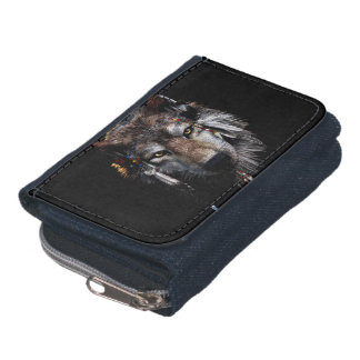 Indian wolf - gray wolf wallet