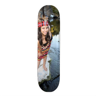 Indian Woman Skateboard