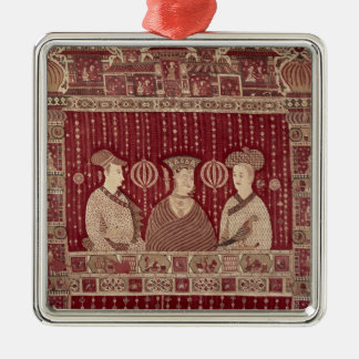 Indian woman with European traders, Madras Christmas Tree Ornament