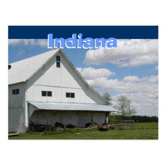 Indiana Barnyard Postcard
