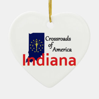 INDIANA CERAMIC ORNAMENT