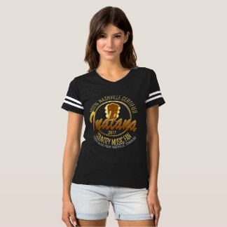 Indiana Country Music Fan Women's Football T-Shirt