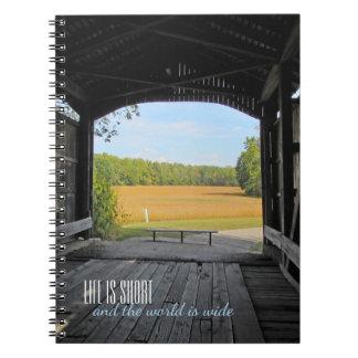 Indiana Covered Bridge Spiral Notebook