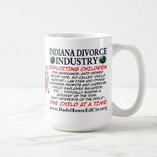 Indiana Divorce Industry. Basic White Mug