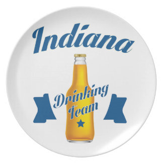 Indiana Drinking team Plate