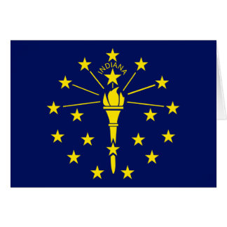 Indiana Flag Greeting Cards