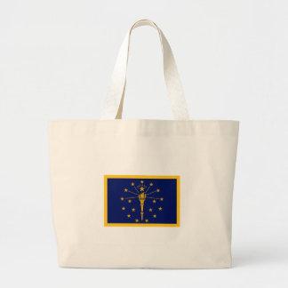 Indiana Flag Large Tote Bag