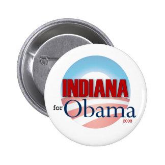 Indiana for Obama 6 Cm Round Badge