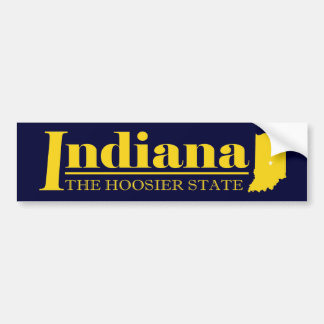 Indiana Gold Bumper Sticker