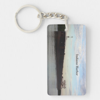Indiana Harbor rectangle key chain