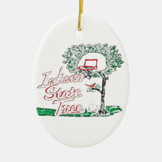 Indiana high school basketball christmas tree ornaments