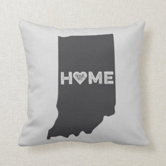 Indiana Home State Love Heart Pillow