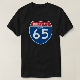 Indiana IN I-65 Interstate Highway Shield - T-Shirt