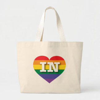 Indiana IN rainbow pride heart Bag