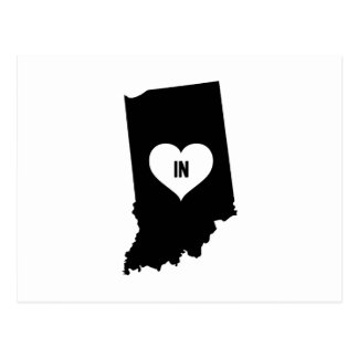 Indiana Love Postcard
