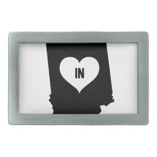 Indiana Love Rectangular Belt Buckle