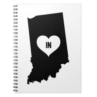 Indiana Love Spiral Notebook