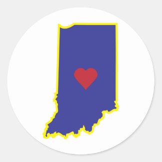 Indiana Luv Round Sticker