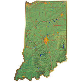 Indiana Map Magnet Cut Out