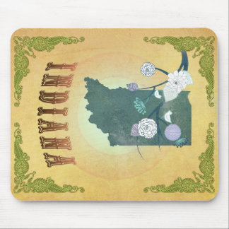 Indiana Map With Lovely Birds Mouse Pad
