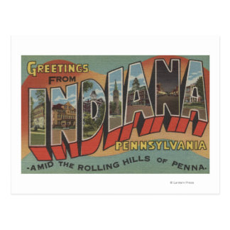 Indiana, Pennsylvania - Large Letter Scenes Postcard