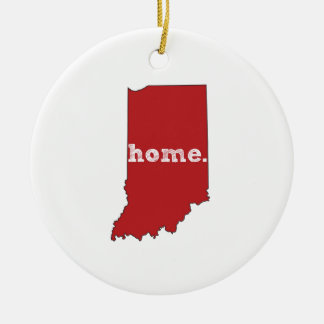 INDIANA PROUD CERAMIC ORNAMENT