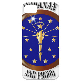 Indiana Proud Flag Button Barely There iPhone 5 Case