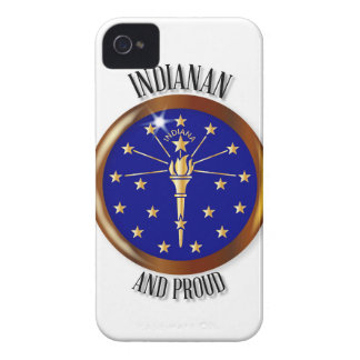 Indiana Proud Flag Button iPhone 4 Cover