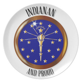 Indiana Proud Flag Button Plate