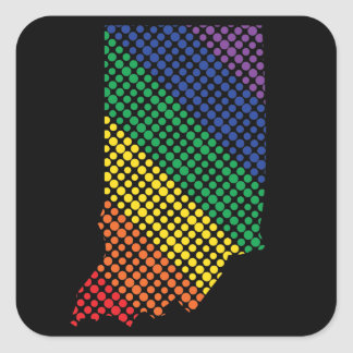 Indiana Rainbow State Square Sticker