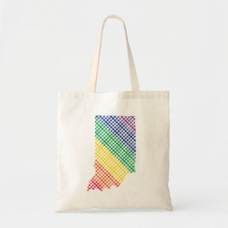Indiana Rainbow State Tote Bag