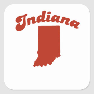 INDIANA Red State Stickers
