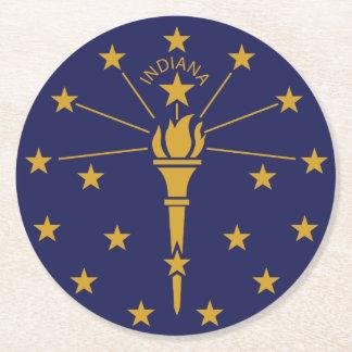 Indiana Round Paper Coaster