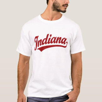 Indiana script logo in red T-Shirt